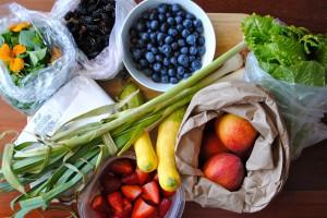 Einkauf auf dem Bauernmarkt
